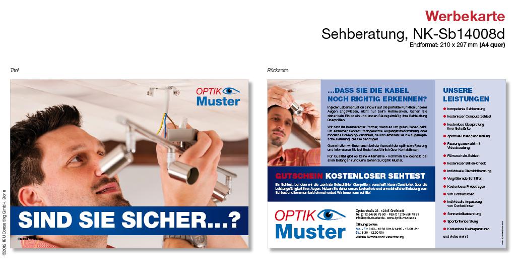 Werbekarte Sehberatung – Art.-Nr. NK-Sb14008d - IBU Consulting GmbH